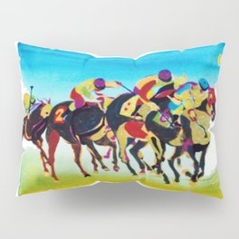 AT THE RACES              by  Kay Lipton Pillow Sham