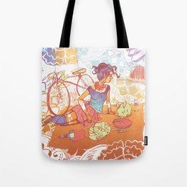 Bicycle Picnic Tote Bag