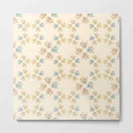 Cream floral theme pattern design Metal Print