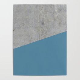 Concrete and Niagara Color Poster