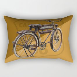 Antique Bike on Route 66 Rectangular Pillow