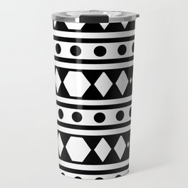White tribal pattern Travel Mug