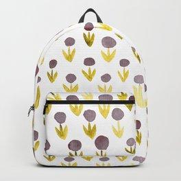 Dot flowers - olive, grey and garnet Backpack