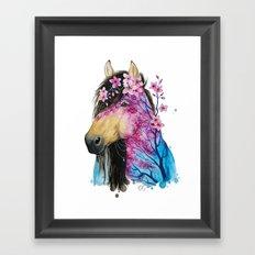 Spring horse Framed Art Print