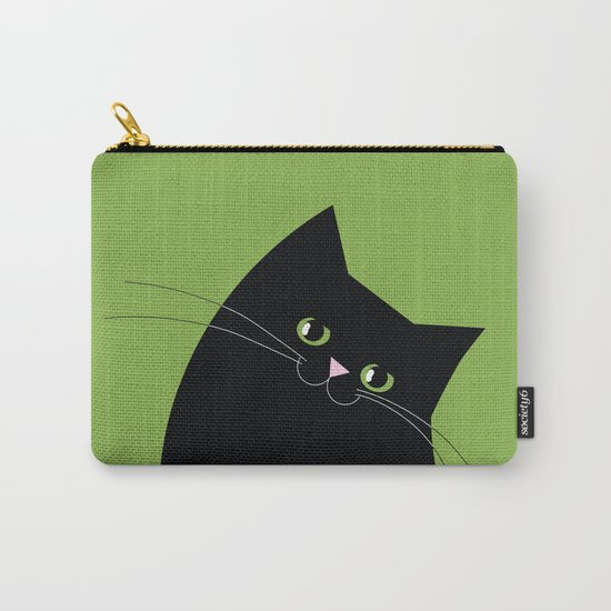 Black Cat and Color of the Year 2017, Greenery Carry-All Pouch