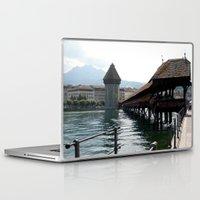 switzerland Laptop & iPad Skins featuring Switzerland (Travel) by Laura Vaisman