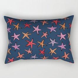 Starfishes in deep ocean Rectangular Pillow