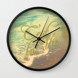 Beach Waves I - C'est La Vie Wall Clock