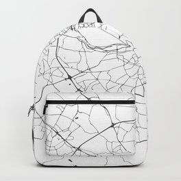 White on Grey Dublin Street Map Backpack