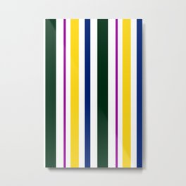 Stripes in colour 1 Metal Print