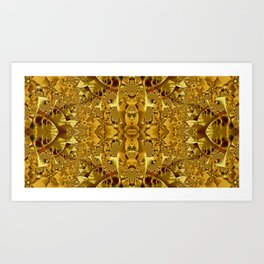 Fractal pattern in gold Art Print