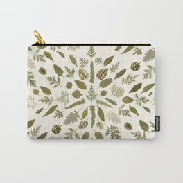 Collage of Leaves Carry-All Pouch