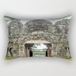Leaving Through the Angkor Thom South Gate, Siem Reap, Cambodia Rectangular Pillow