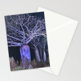 Boabs at night Stationery Cards