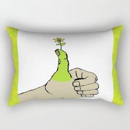 Green Thumb Rectangular Pillow