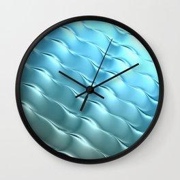 Blue Satin Ripple Wall Clock