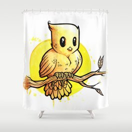 Stop Overthinking This Gosh Darn Crap and Just Draw a Bird! Shower Curtain