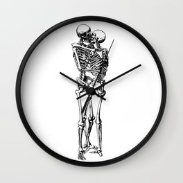 Kissing Skeleton Wall Clock