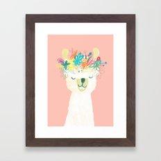 Llama Goddess Framed Art Print