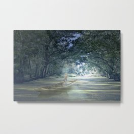 Ghostly Excursion on the Bayou Metal Print