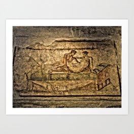 Pompeii Brothel Art Print