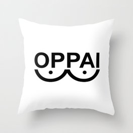 OPPAI - One-punch man tribute Throw Pillow