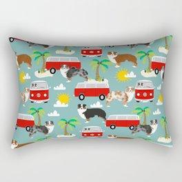 Australian Shepherd dog breed tropical summer dog lover gifts Rectangular Pillow