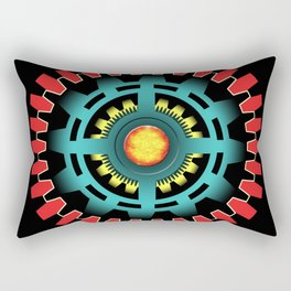 Abstract mechanical object Rectangular Pillow