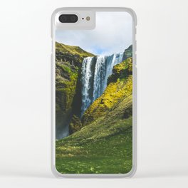 Subtle Skógafoss Clear iPhone Case