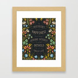 William Morris Quote About Happiness Framed Art Print