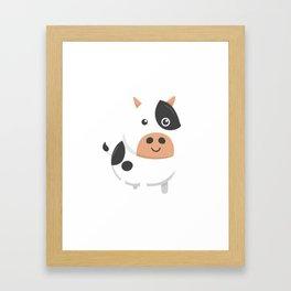 Adorable Cow & Cute Baby Calf Framed Art Print
