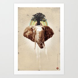 "Glue Network Print Series ""Environment & Animals"" Art Print"