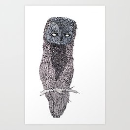 Owl // ink Art Print