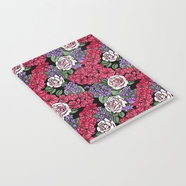 Chevron Floral Black Notebook