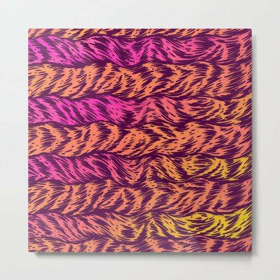 Fur Stripes Metal Print