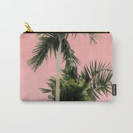Palm Trees on Pink Wall Carry-All Pouch