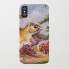Banishing clouds in Kew iPhone X Slim Case