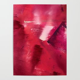 Between Heartbeats [3]: a vibrant abstract piece in a variety of reds by Alyssa Hamilton Art Poster