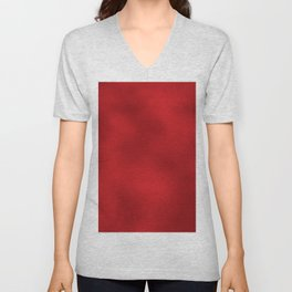 Bold Red Foil Rippled Texture, Holiday - Christmas Unisex V-Neck