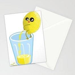 lemon lemonade pee Stationery Cards
