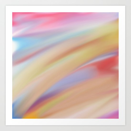 Watercolorful Flow Art Print