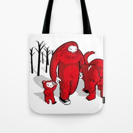 a lot of snow Tote Bag