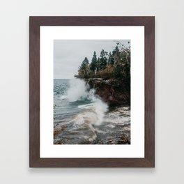 Tettegouche Park, Minnesota   Nature and Landscape Photography Framed Art Print