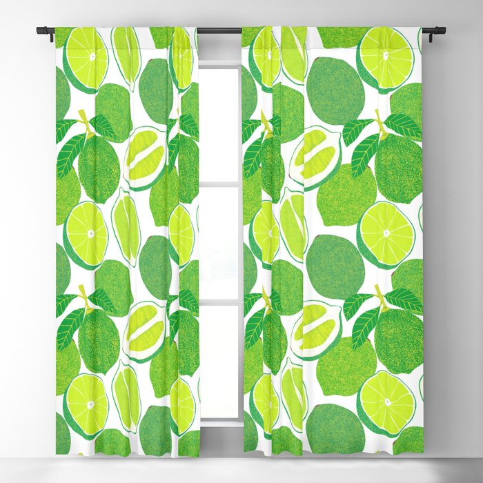 Lime Harvest Blackout Curtain
