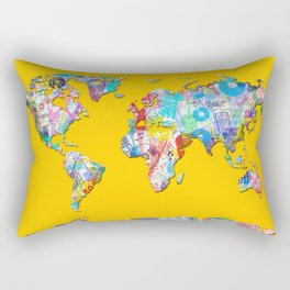 world map music art 1 Rectangular Pillow