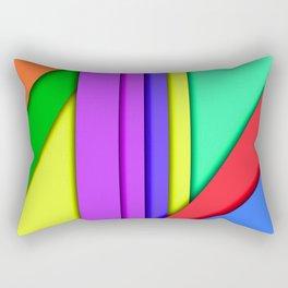 Colors Shadow Rectangular Pillow