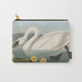 Common American Swan by John James Audubon Carry-All Pouch