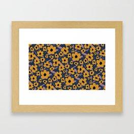 Sassy Flower Pattern Framed Art Print