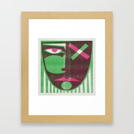 Two tone mask Framed Art Print