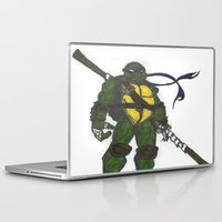 ninja turtles Laptop & iPad Skins featuring Ninja Turtles Donatello by minusblindfold